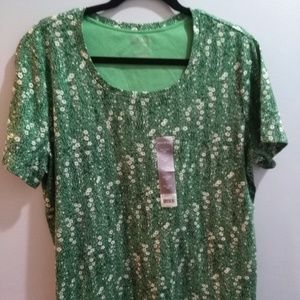 NEW White Stag Floral Short Sleeve Tee - Size XXL